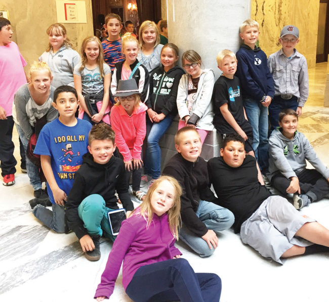 Ephraim Elementary fifth-graders took a tour of the State Capitol Building where they saw several of the 5,000-pound pure marble columns that stand throughout the century-old building.