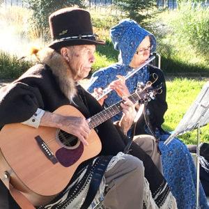 DUP musicians provide prelude music at the Settlement of Sanpete program, held last Saturday. - Matt Harris / Messenger photo