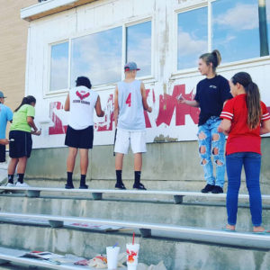 Nearly 200 young athletes from North Sanpete High have joined together to form the North Sanpete Service Squad. Their first project was to renovate the stadium, giving it a much needed mini facelift.
