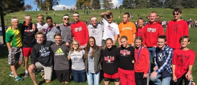 Members of the Manti High Cross Country team at Sugar House Park for the state tournament races. - Photo courtesy Brandon Norris
