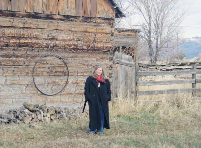 Author, poet and painter Sue Jensen Weeks on property in Spring City that has been in her family for six generations.