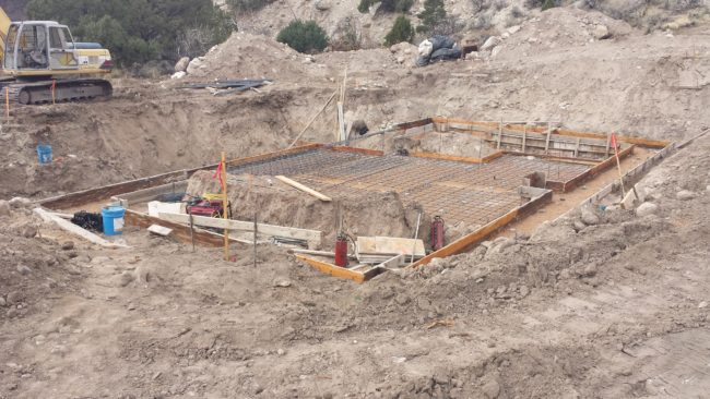 The base of the construction for the powerhouse has already begun in Sterling Canyon.