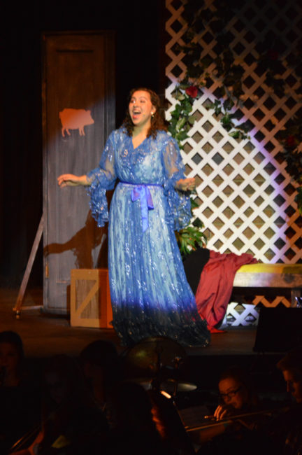 Fairy Godmother Abby Huff opens the MHS musical production of Cinderella with a vocal solo. - Daniela Vazquez / Messenger photo