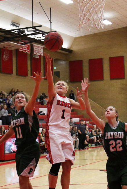 Returning senior Angela Clayton will likely be the main contributor on offense for the North Sanpete girl's this season.