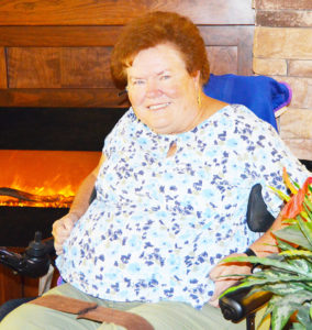 The great outdoors had once been a home away from home for Mary Hill, but since receiving a devastating diagnosis of Multiple Sclerosis, Mission at Community assisted living center in Centerfield is now where she calls her home away from home.