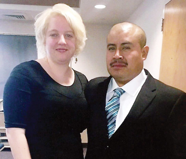 Bobbie Merrill and Arnulfo Lopez