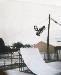 Sanders used to ride BMX six or seven hours each day while growing up in Ephraim.