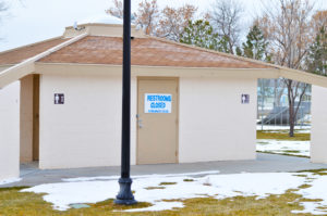 The Gunnison City Council is considering the renovation or replacement of city park restrooms using a Community Development Block Grant. - Robert Stevens / Messenger photo