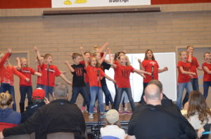 A group of Manti Elementary students opened the talent show with a dance to the song Zippy Doo-dah at the 2017 Winter Showcase on Thursday, Jan. 12.