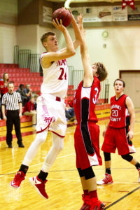 Corbin Linam (shown here against Grand) had 12 points in Manti's loss to San Juan. - Michael Bahlmann / Messenger photo