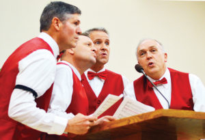 "This quartet of crooners sang ""Let me call you sweetheart"" at the Sweetheart Forum on Friday, Feb. 10."