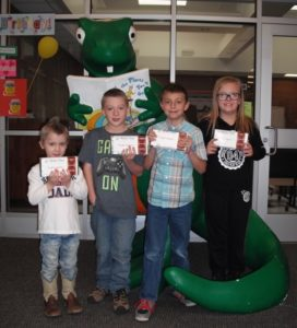 Ephraim Elementary students who sold the most chocolate bars in the World's Finest Chocolate Fundraiser are, from left,  Takoda R.(preschool)  Leo S., Matthew H. and Kenzee C.(third graders).