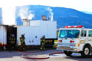 NEWS - PHOTOPACKAGE - Regional fire school - Flash over prop - ROBERT