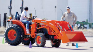 A youth learns how to safely operate a tractor in the USU-Sanpete extension youth farm safety course. The course will be held again this year on March 10-11.