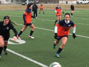 Snow College's soccer teams have wasted no time in getting back to the field. As part of spring training, both the men's and women's soccer teams scrimmaged against La Roca Soccer Club, out of Salt Lake County. While many of the players practicing are returners, for now, some new faces are already being seen. - Matt Harris / Messenger photo