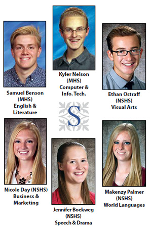 The six Sanpete students to earn the title Sterling Scholar.