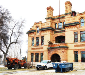The intricate brickwork that makes up the exterior the historic Spring City school will be preserved along with important interior features. - Robert Stevens / Messenger photo The intricate brickwork that makes up the exterior the historic Spring City school will be preserved along with important interior features. - Robert Stevens / Messenger photo