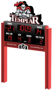 Artist's rendering of new scoreboard for Manti's football field, approved by school district last Wednesday.