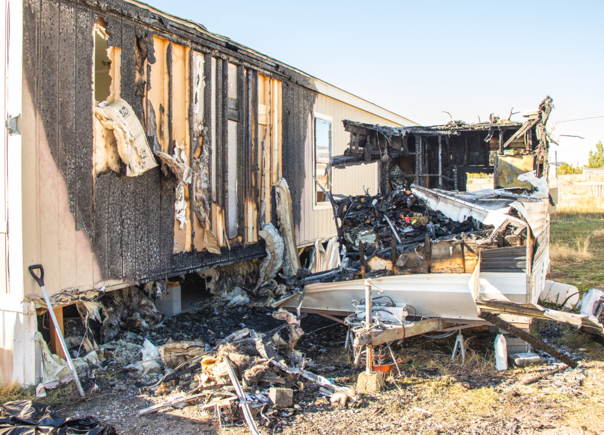 This Blackened Shell And A Scorched Neighboring Trailer Are Remnants Of Fire That Led To The Death Fairview Man On Thursday Oct 5