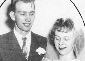 Bobbie and Verda Mae Sorenson at their wedding