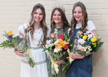 Royalty for this year's Miss Lamb Pageant are (from left to right): second attendant, Jianna Smith; queen, Lexie Bradley; and first attendant,Madolyn Mangum.